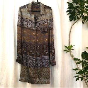 HaleBob silk shirt dress
